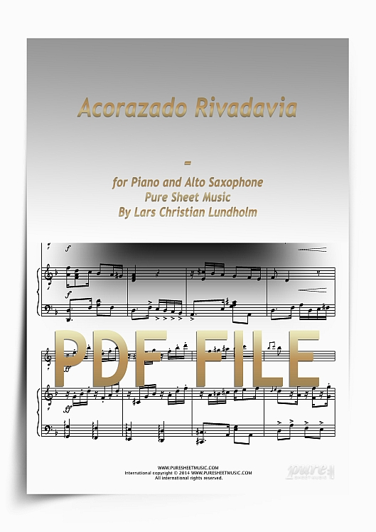 Thumbnail Acorazado Rivadavia for Piano and Alto Saxophone (PDF file), Pure Sheet Music arranged by Lars Christian Lundholm
