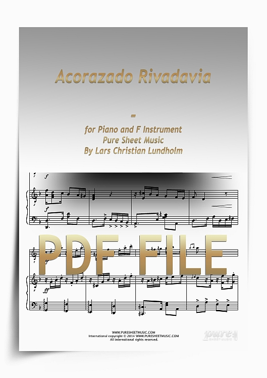 Thumbnail Acorazado Rivadavia for Piano and F Instrument (PDF file), Pure Sheet Music arranged by Lars Christian Lundholm