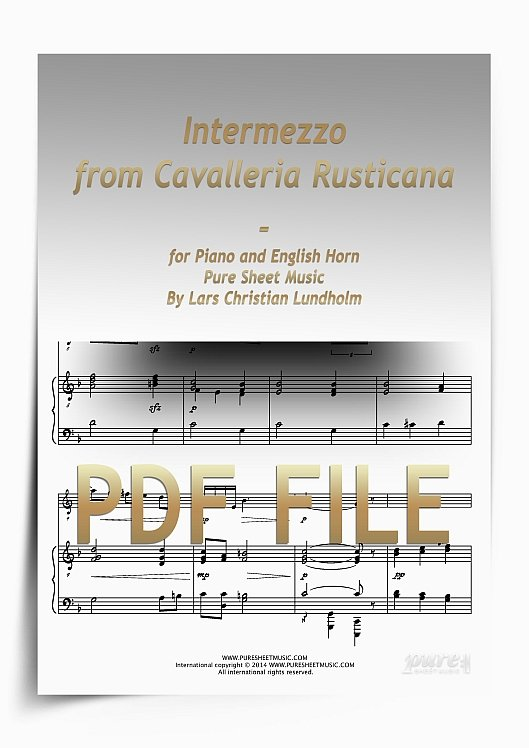 Thumbnail Intermezzo from Cavalleria Rusticana for Piano and English Horn (PDF file), Pure Sheet Music arranged by Lars Christian Lundholm
