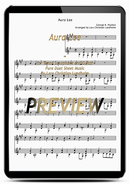 Product picture Aura Lee for Tenor Saxophone and Guitar (EPUB file), Pure Sheet Music as Ebook arranged by Lars Christian Lundholm